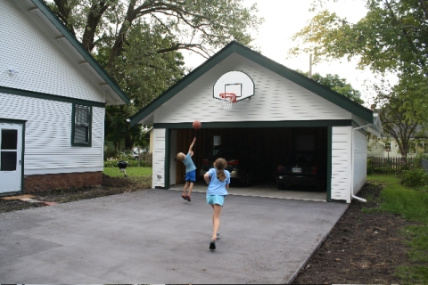 the new garage undergoes testing