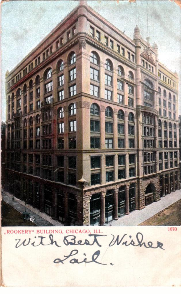 The Rookery, La Salle and Adams.  Burnham & Root, 1888